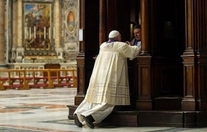 Pope Francis at Confession